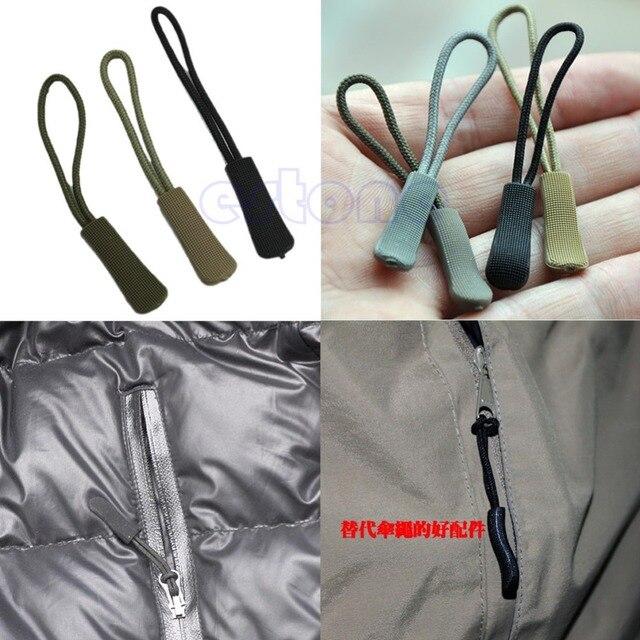 Zipper Puller Ajuste Final de Corda Tag Fixador Zip Cord Tab Substituição Clipe Fivela Quebrada Saco de Viagem Mala de Roupa Tenda mochila