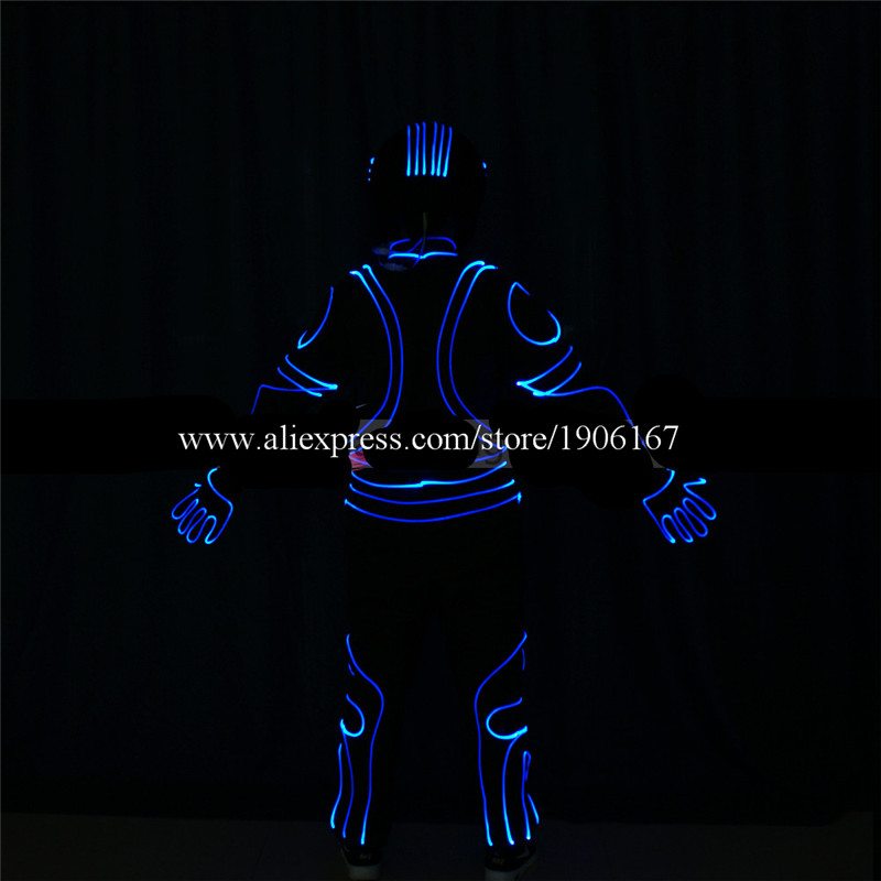 DMX512 Program full color led costumes colorful light robot suit dj catwalk cloth club bar performance show dancer wears03