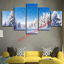 Poly Painting Snow Trees Winter Landscape Diamond Cross Stitch DIY Diamond Painting 3d Full & Round Square Crystal Mosaic Deco
