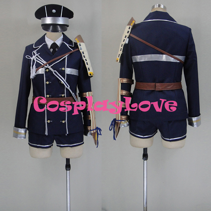 Free shipping Custom Hirano Toushirou Cosplay Costume from Sword Dance Touken Ranbu Online Anime Set Clothing Christmas
