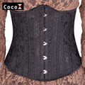 Women Sexy Stretch Mesh Corset Slimming Black Tummy Trimmer Underbust Corsets Steel Boned Waist Cincher Corset Bustier