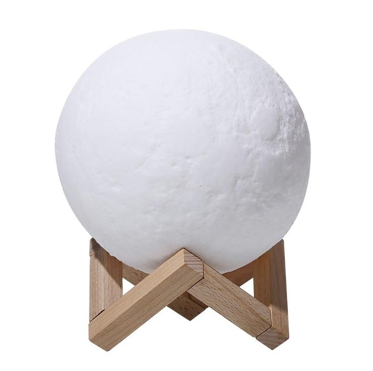 LED moon light 3D print rechargeble light
