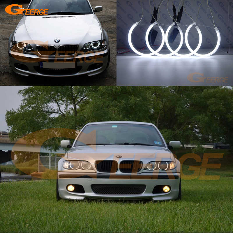 For Bmw E46 3 Series Sedan Or Wagon With Hid Xenon 1999 2004 Excellent Ccfl Angel Eyes Kit Ultra Bright Illumination Halo Ring