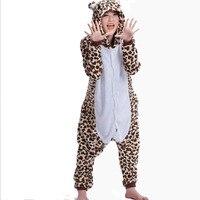 Greywalnut Fashion Autumn and winter Cartoon animals Cute Leopard Bear Pajamas for Women adult Long sleeve Pajama sets