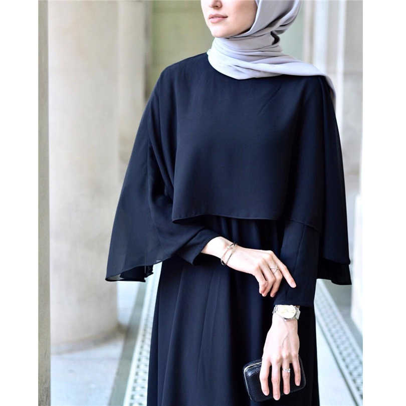 ערבי Vestidos 2019 ארוך איחוד האמירויות העבאיה דובאי קפטן קימונו פשתן מקסי מוסלמי צעיף Bodycon חיג 'אב שמלת נשים בגדים אסלאמיים תורכי