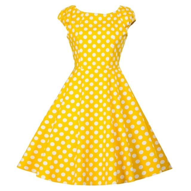 Audrey Hepburn O Neck Slim Simple Vintage Cotton Dress Women Summer Casual Rockabilly Retro 50s 60s