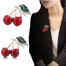 Fashion 1PC Red Enamel Brooches For Women Kids Cherry Brooch Small Pins Party Bag Dress Accessories cob led flood light 50w 100w 120w 160w 200w 250w ip67 led outdoor lighting garden shed waterproof led outdoor floodlight