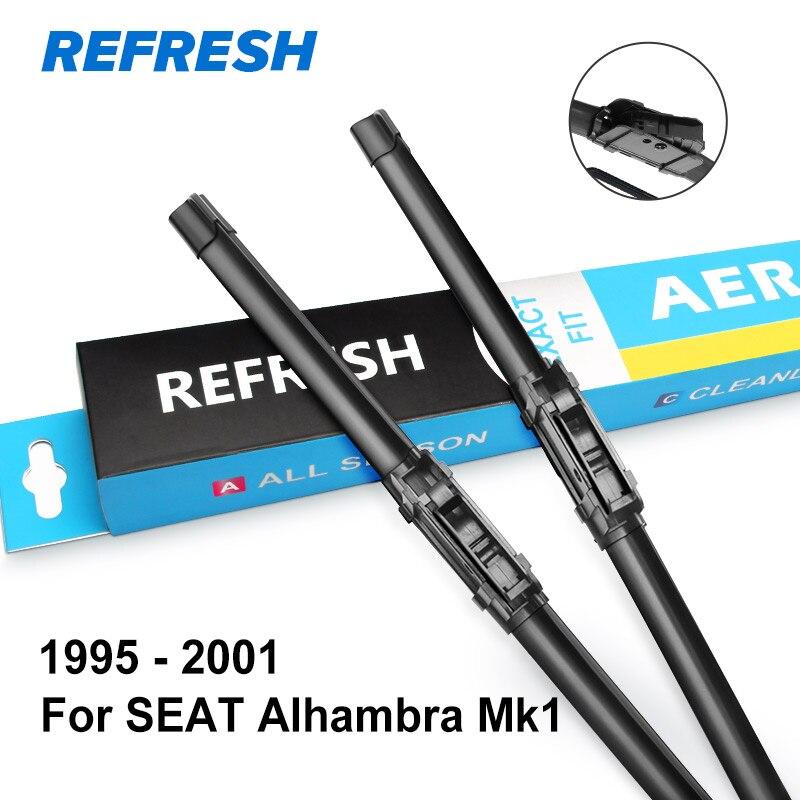 REFRESH Щетки стеклоочистителя для SEAT Alhambra Fit Боковые штыревые рукоятки / Тяжелый крюк / кнопочная модель Модель Год с 1995 по год - Цвет: 1995 - 2001 ( Mk1 )
