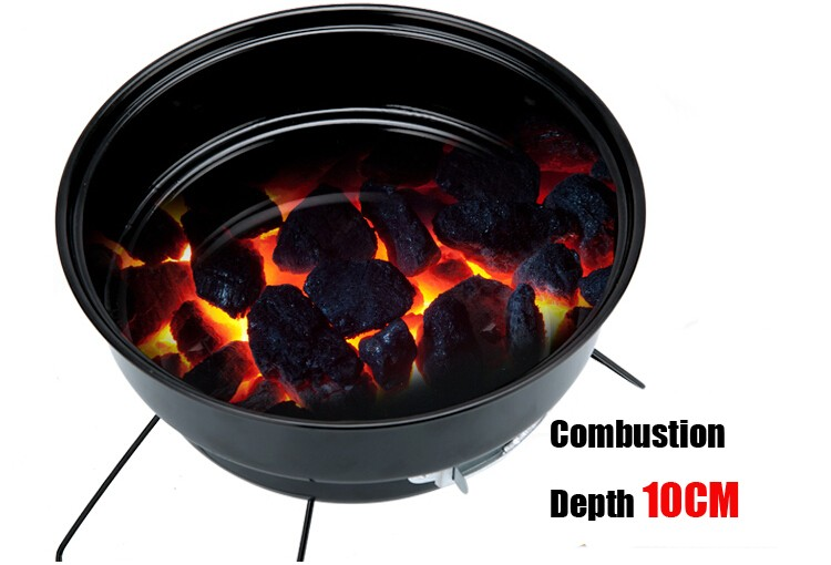 Outdoor mini bbq grill Stainless Steel Household Family Party Barbecue Brazier Charcoal Portable BBQ Cooking Tools For Camping 6