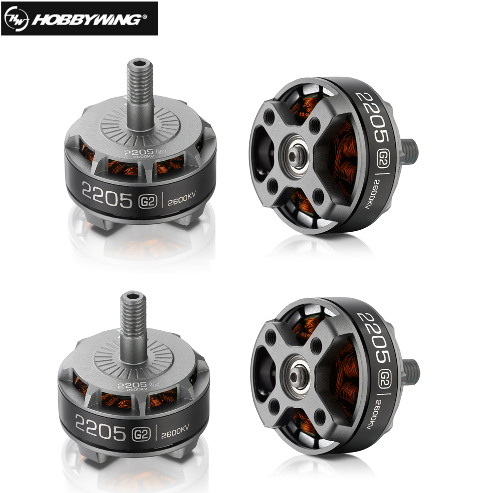 4pcs/lot Hobbywing XRotor 2205 G2 2300KV 2600KV Brushless Motor 3-4S for FPV RC Racing Drone Helicopter lhi fpv 4x mt2206 2300kv cw ccw fpv brushless motor 2 4s 4 pcs racerstar rs20a lite 20a blheli s bb1 2 4s brushless esc