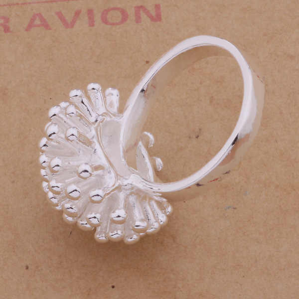 2016Promotion Fashion fireworks flower silver Plated jewelry Women female wedding rings 925 sterling wholesale