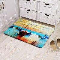 Ocean Boat Anchor Pattern Tapete Home Decor Non Slip Mats Carpet Entrance Doormats Living Room Bedroom