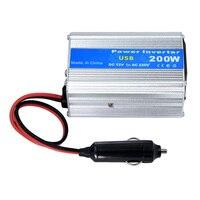 רכב אוטומטי מהפך 200 w DC12V כדי 220 V AC רכב כוח conventor מתאם עם מטען סיגריה מכונית מצית עם יציאת USB ערכת