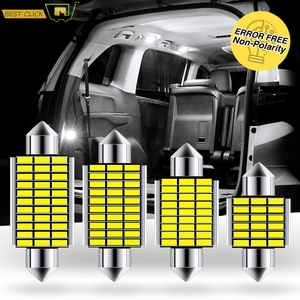 Xukey Car CANBUS Festoon C10W LED Bulbs 31mm 36mm 39mm 42mm License Plate Interior Dome Trunk Lights 4014 SMD High Power 12V