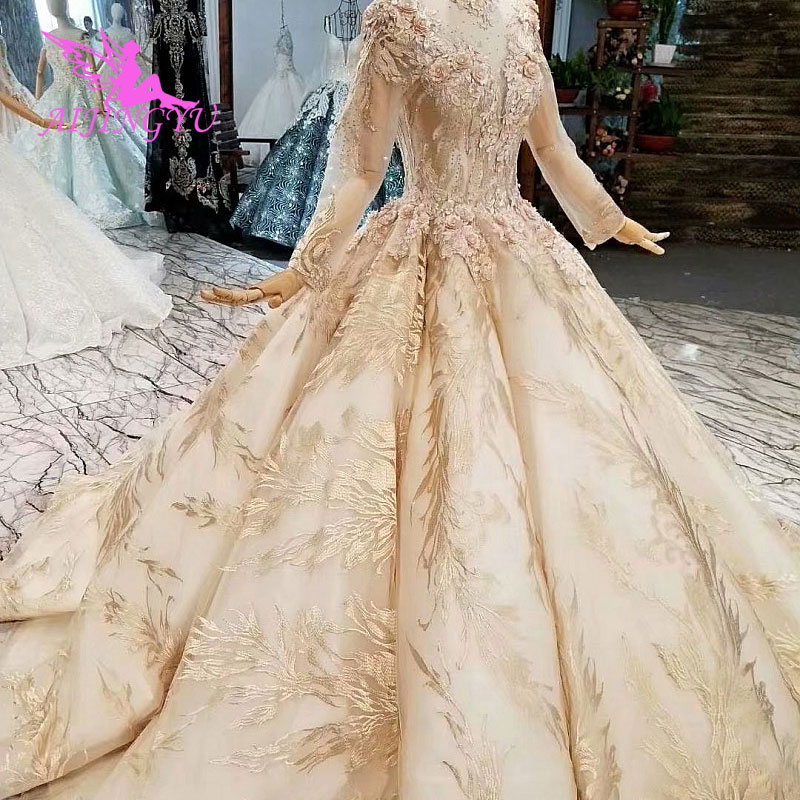 AIJINGYU Casual Wedding Dresses Gown 2018 Long Tail Gorgeous ...