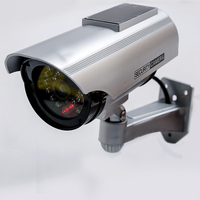 Fake Camera Solar Power Dummy Surveillance CCTV Camera Monitor Waterproof Outdoor CCTV Camera