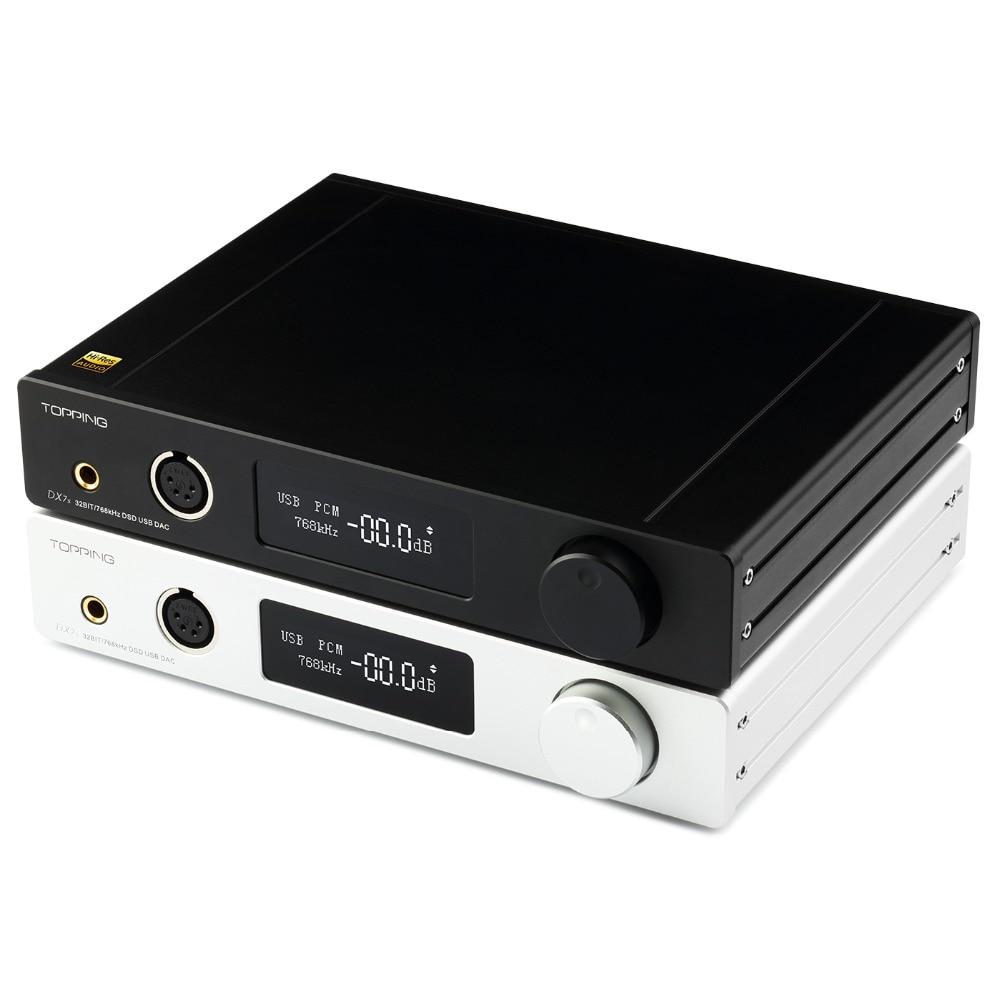 Topping DX7S 2 * ES9038Q2M 32Bit/768 k DSD512 DSD USB completo equilibrado DAC auriculares amplificador