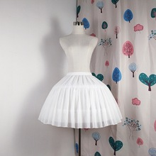 Lolita Chiffon Cosplay Petticoat Underskirt Short Women Blac