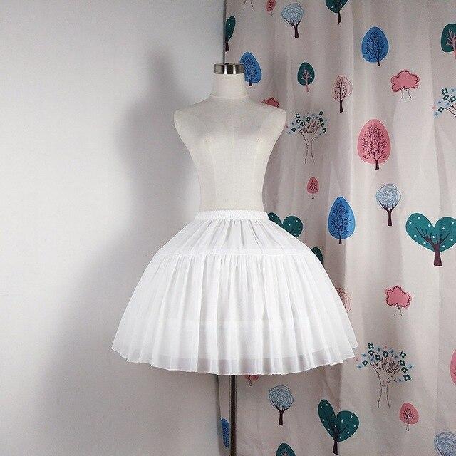 Lolita jupon en mousseline de soie, Cosplay, sous jupe courte, noire, accessoires de mariage, pour femmes, 2019