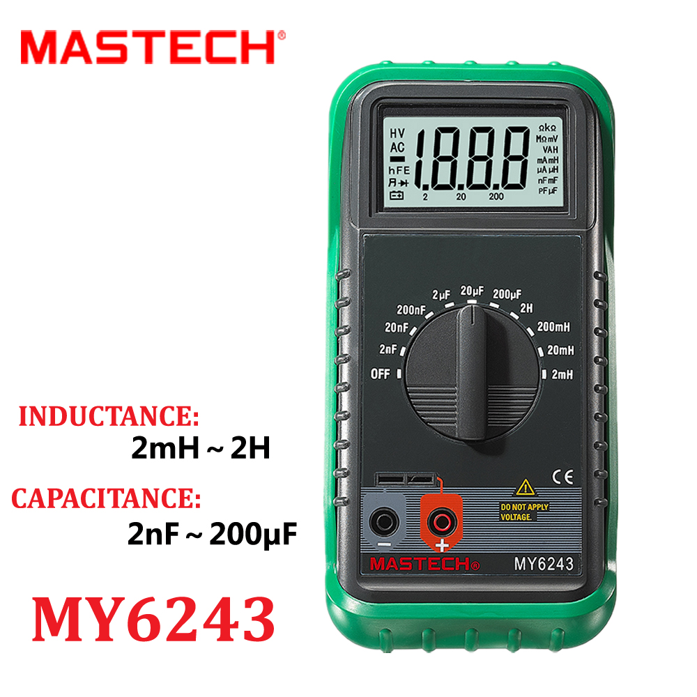 digital multimeter mastech my6243 3 1 2 lc meter handheld inductance capacitance tecrep tester. Black Bedroom Furniture Sets. Home Design Ideas