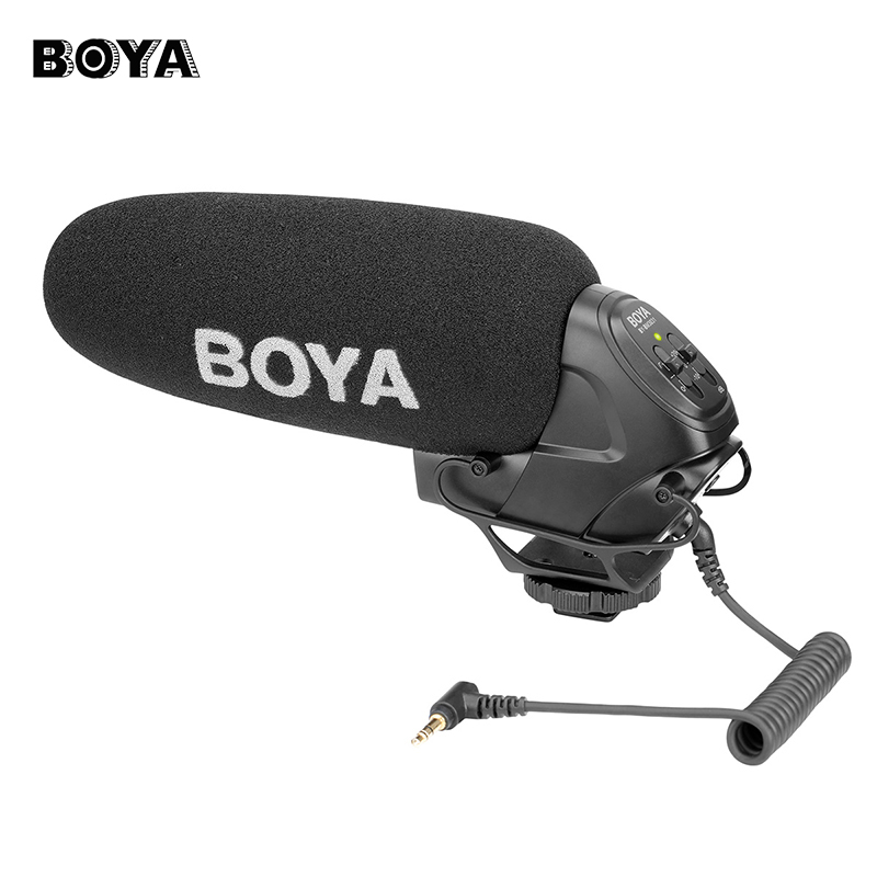 BOYA BY-BM3031 On Camera Condenser Microphone for DSLR Nikon Canon Video Camera Audio Recorder 1/4 Screw 3.5mm Jack Mic for Live комплект для девочки soni kids путешествие в лондон водолазка сарафан цвет красный з6121020 размер 98