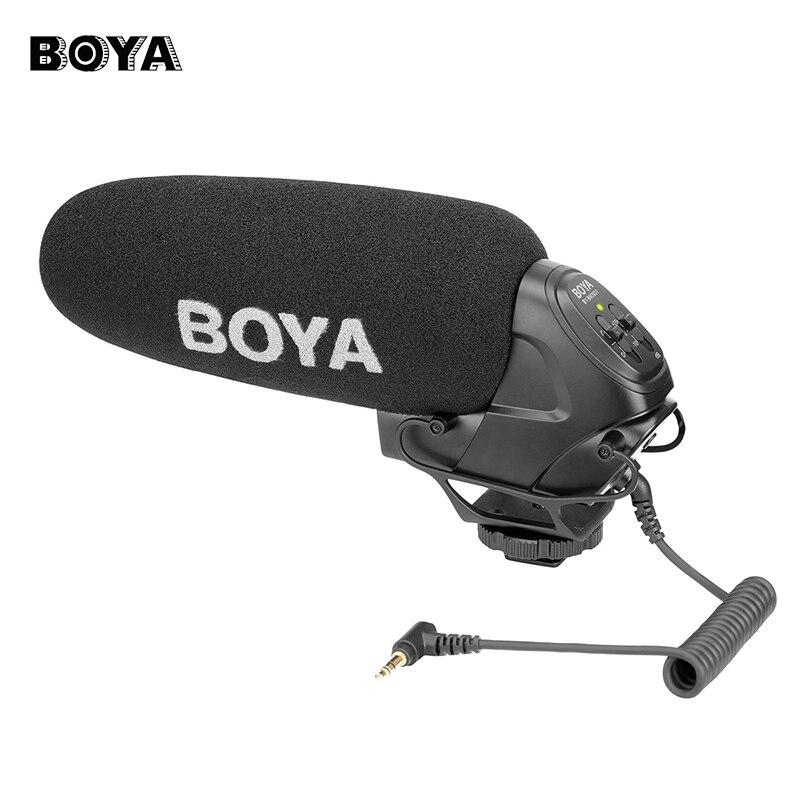 BOYA BY-BM3031 Sulla Macchina Fotografica Microfono A Condensatore per DSLR Nikon Canon Video Camera Audio Recorder 1/4 Vite 3.5mm Martinetti Mic per Vivere