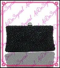 Aidocrystal schwarz kristalle damen handtasche und sandale set für party
