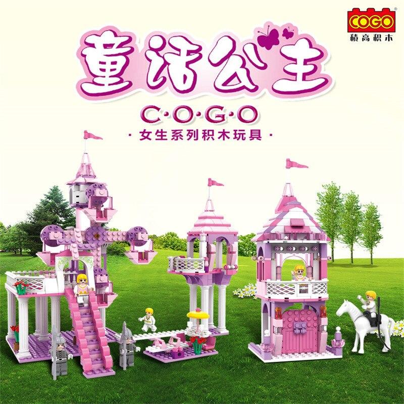Dream Princess Fairy Tale Block Castle Building blocks Girl Fiends Diy Model Mini Bricks 3 In 1 Cogo Educational Toys 13264 светильники trousselier абажур princess fairy 34х22 см