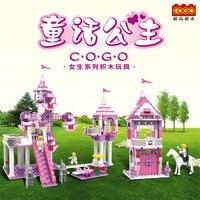 Rüya Prenses Peri Masalı Blok Kale Yapı taşları Kız Fiends Diy Modeli Mini Tuğla 3 In 1 Cogo Eğitici Oyuncaklar 13264