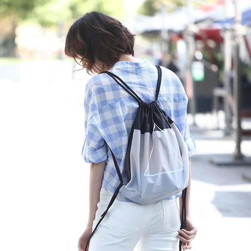 все цены на Xiaomi 90FUN Waterproof Drawstring Bag Fashion Lightweight Sports Organizer Men Women Girls Boys Commute Shopping mini bagpack