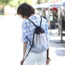 90FUN Waterproof Drawstring Bag Fashion Lightweight Organizer for Woman Girls Commute Shopping  все цены
