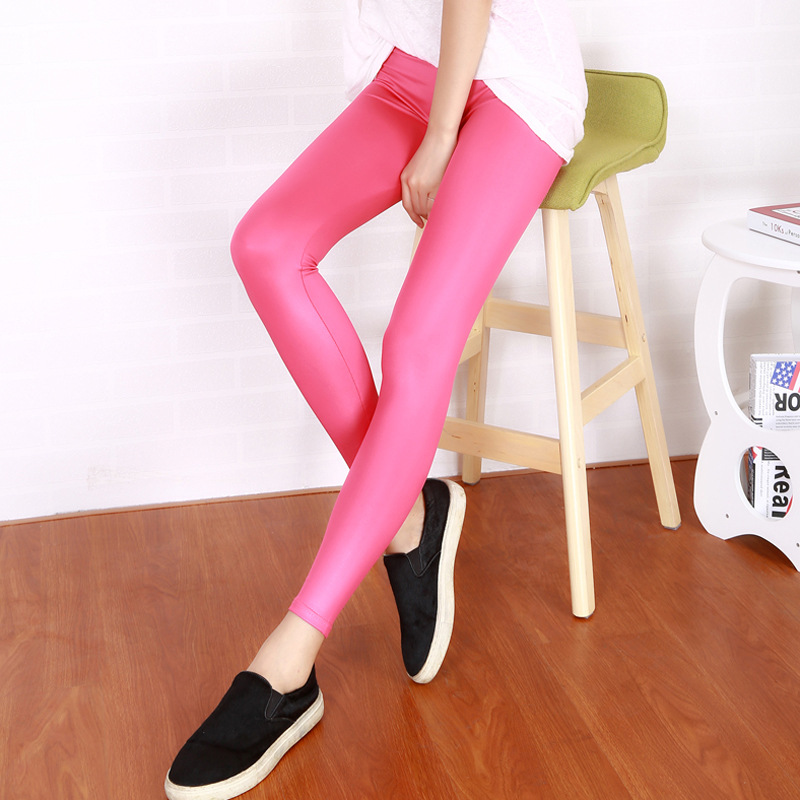 Ladies high quality full length pants, women's faux leather legging, high stretchy slim fitness pants, free shipping