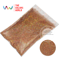 TCA201 Laser Red Gold Color 0 1MM 004 Glitter Dust Specular Luster Glitter For Nail Tatto