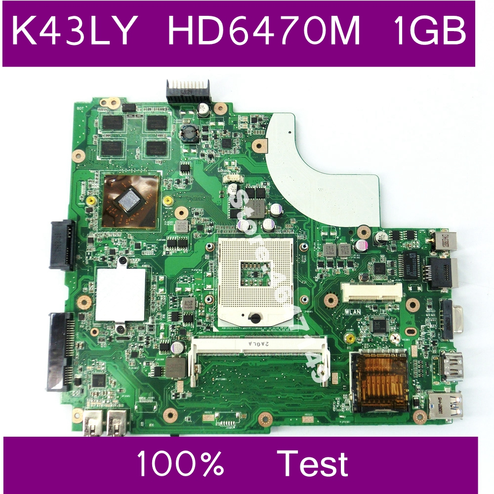 K43LY HD6470M 1GB Graphics Card Memory Mainboard For Asus K43LY K84LY K43L X44H X84H K84L Laptop Motherboard 100% Test Working