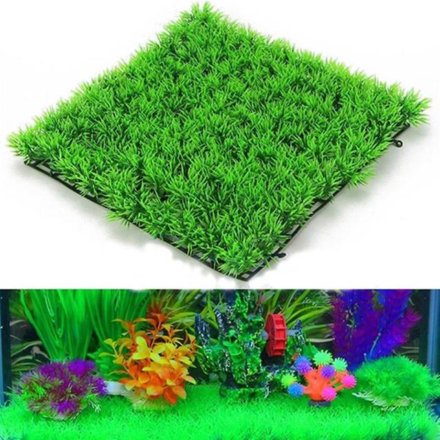 nouveau fish tank carr gazon artificiel pelouse aquarium faux gazon tapis pour la maison. Black Bedroom Furniture Sets. Home Design Ideas