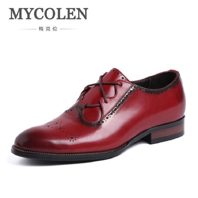 MYCOLEN Genuine Leather Men Loafers Fashion Carved Hollow Men Dress Leather Shoes High Quality Men Flats Shoes for Wedding fonirra 2017 high quality genuine leather men shoes comfortable handsome loafers fashion shoes breathable men s flats shoes 709