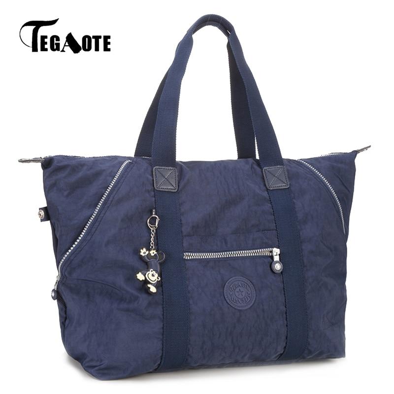 TEGAOTE Top-handle Bags Kipled Solid Shoulder Bags Handbags Women Famous Brand Female Bag Bolsa Sac Femme 2017 Casual Tote O Bag