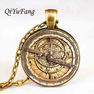 Steampunk cartoon Mysteries BILL CIPHER WHEEL Necklace doctor who 1pcs/lot Glass mens astrolabe women best friends Pendant(China)