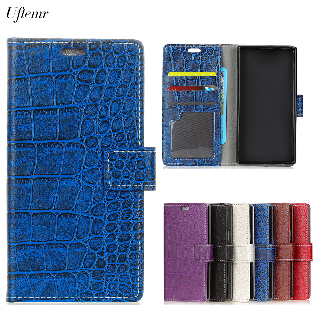 Uftemr Vintage Crocodile PU Leather Cover for J7 Plus Silicone Case for Samsung Galaxy J7 Plus Wallet Card Slot Acessories