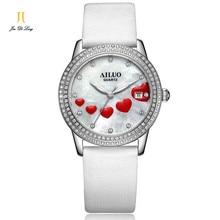 Brand Luxury Trend Fashion Ladies Dress Casual Quartz Watch Women Diamond Wrist Watches Colorful Leather Strap Calendar Relogio