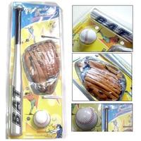 Baseball Set 24'' Aluminum Bat with Glove & Softball 3in1 Children Baseball Training