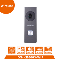 WiFi Video Doorbell DS KB6003 WIP Built In Omnidirectional Microphone And Loudspeaker 2MP 24V Power Supply