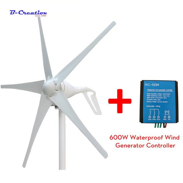 Nuovo generatore di vento 400 W 12 v 24 v 48 v turbina eolica con 3/5 lame con 600 w vento controller per lampione di illuminazione da giardino