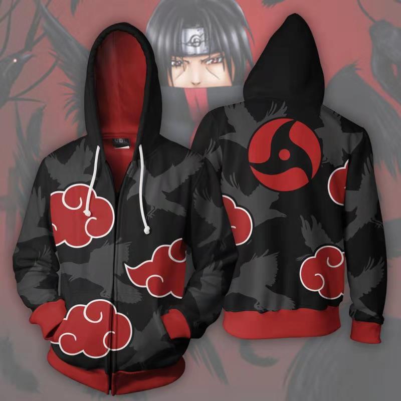 Naruto Hoodie Coat Sweatshirts Kakashi Akatsuki Sasuke O Brien 3D Hoodies  Pullovers Men Women Long Sleeve Outerwear Hoodie 65d61b614