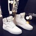 2016 Novos Estilos de Sapatos de Alta Qualidade Dos Homens Sapatos Casuais Homem Zapatillas Formadores Dos Homens Respirável Sapatos Preto Branco Vermelho