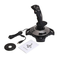 Professional 4 Axles USB Joystick Simulator Rocker Game Gaming Controller PC Desktop Flight Stick Simulator Gamepad