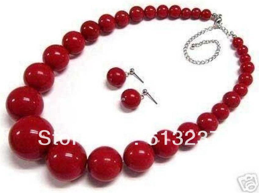 """Lovely 6-14mm Amethyst Round Beads Gemstone Necklace 18"""""""