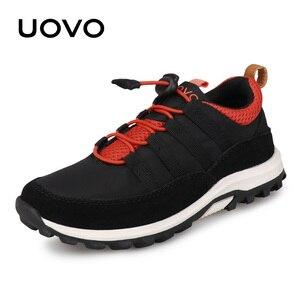 Image 1 - חדש בנים ובנות ספורט נעלי סתיו UOVO 2020 ילדי נעליים לנשימה ילדי נעלי Brethable שטוח מקרית סניקרס Eur #32 38