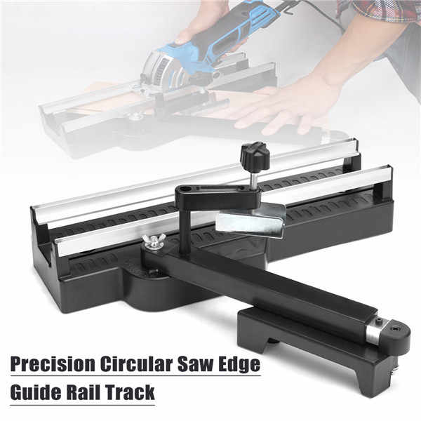 Precisiones 415mm Circular Saw Edge Guide Rail Track Woodworking Cutting Tool Flat Edge Trimming Guide Rail