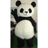 China Wholesale long hair Panda Bear Mascot Costume Fancy Dress